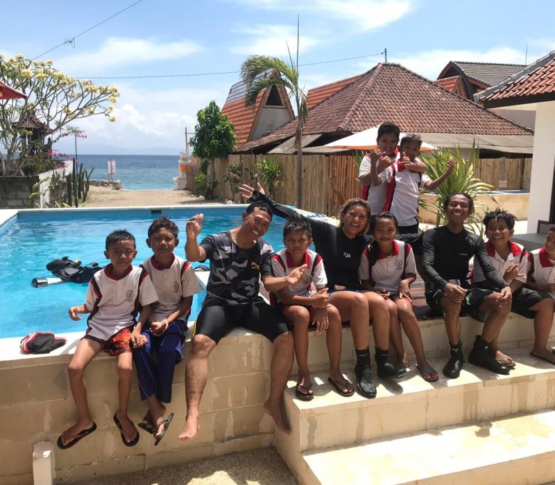 swimming Nusa Penida
