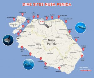 Dive Sites Map Nusa Penida